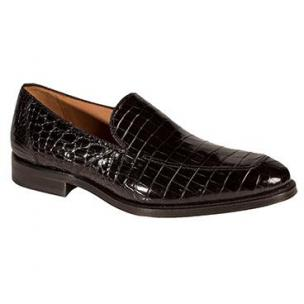 Mezlan Budapest Alligator Loafers Black Image