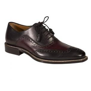 Mezlan Cadiz Spectactor Oxfords Graphite / Burgundy Image