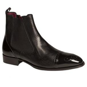 Mezlan Caffi Double Side Gore Tumbled Calfskin Boot Black Image