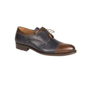 Mezlan Carlino Spectator Shoes Blue / Brown Image