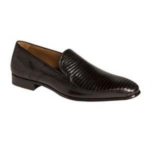 Mezlan Coello Lizard & Calfskin Loafers Black Image