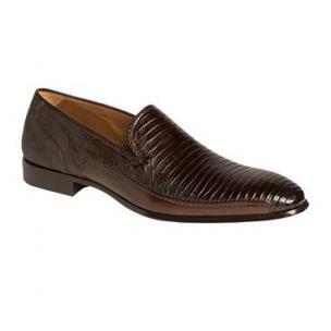 Mezlan Coello Lizard & Calfskin Loafers Tan Image