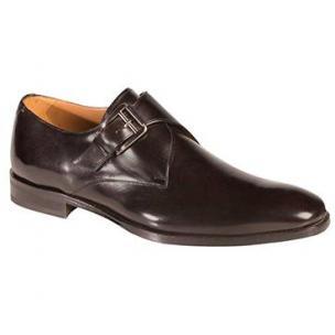 Mezlan Coimbra Monk Strap Shoes Black Image