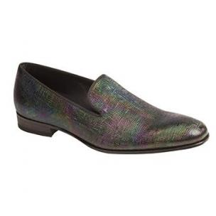 Mezlan Cole II Embossed Patent Leather Loafers Rainbow Image