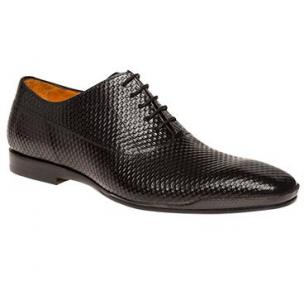 Mezlan Coloma Embossed Calfskin Oxfords Black Image
