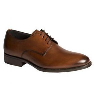 Mezlan Contin Plain Toe Derby Shoes Cognac Image