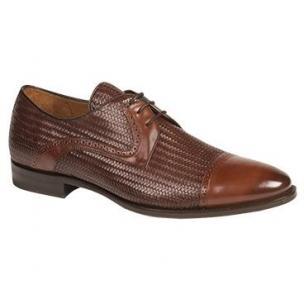 Mezlan Cortes Calfskin Cap Toe Shoes Cognac / Brown Image