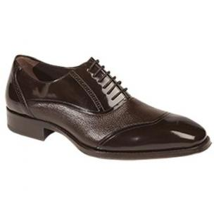 Mezlan Cumbria Deerskin & Calfskin Dress Shoes Brown Image