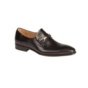 Mezlan Doria Plain Toe Bit Loafers Black Image