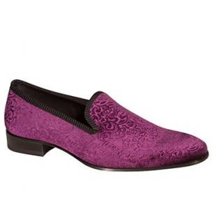 Mezlan Dresden Velvet Loafers Grape Image