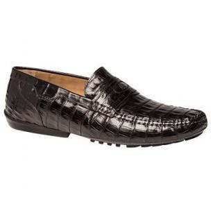 Mezlan Encina Crocodile Driving Loafers Black Image