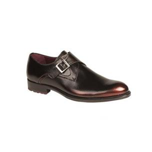 Mezlan Erbe Monk Strap Shoes Black / Burgundy Glow Image