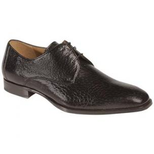 Mezlan Escorial Peccary Plain Toe Derby Shoes Black Image