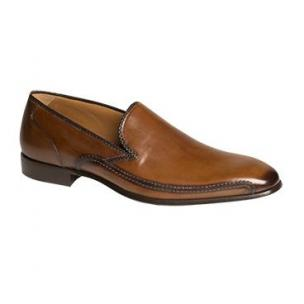 Mezlan Fabriano Burnished Calfskin Loafers Cognac Image