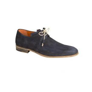 Mezlan Fenis Suede Derby Shoes Blue Image
