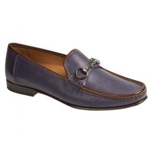 Mezlan Ferrant Bit Loafers Blue / Brown Image