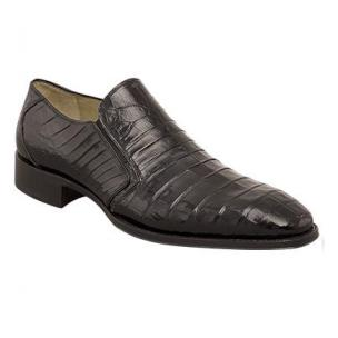 Mezlan Fiorello Crocodile Loafers Black Image