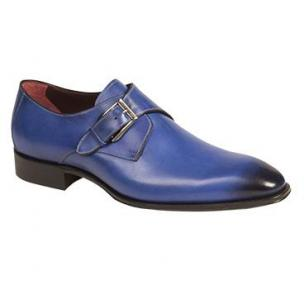 Mezlan Flores Monk Strap Shoes Blue Image