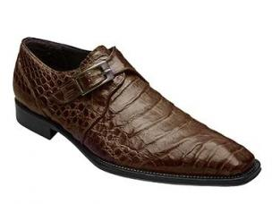 Mezlan Gables Crocodile Monk Strap Shoes Sport Image