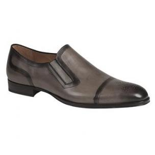 Mezlan Gallego Cap Toe Loafers Light Gray Image