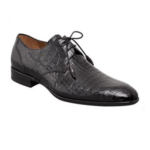 Mezlan Gastone Alligator Derby Shoes Black Image