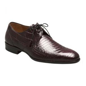 Mezlan Gastone Alligator Derby Shoes Burgundy Image