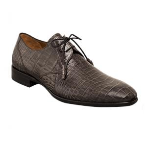 Mezlan Gastone Alligator Derby Shoes Gray Image