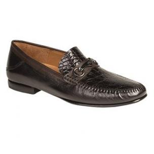 Mezlan Gaudi Crocodile & Calfskin Bit Loafers Brown / Black Image