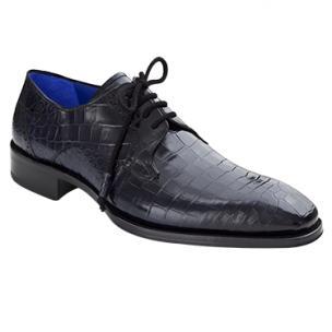 Mezlan Giotto Alligator Derby Shoes Blue Image