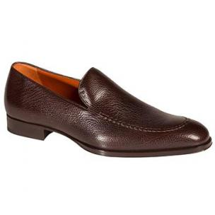 Mezlan Granada Tumbled Calfskin Loafers Brown Image
