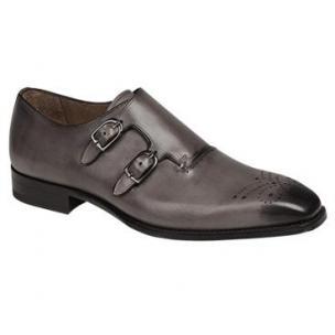 Mezlan Gris Double Monk Strap Shoes Light Gray Image