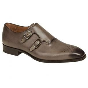 Mezlan Gris Double Monk Strap Shoes Taupe Image