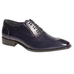 Mezlan Gritti Apron Toe Oxfords Royal Blue Image