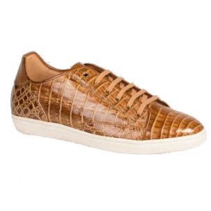 Mezlan Hickman Crocodile Sneakers Taupe/Beige Image