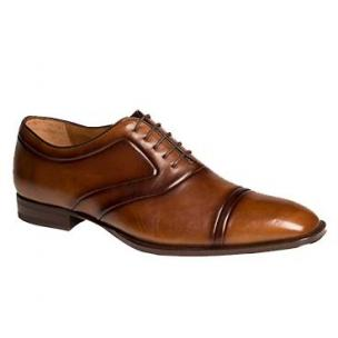 Mezlan Hubert Cap Toe Shoes Tan Image