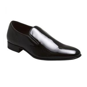 Mezlan Jacobs Patent Leather Loafers Black Image