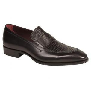 Mezlan Julio Hand Burnished Penny Loafers Graphite Image