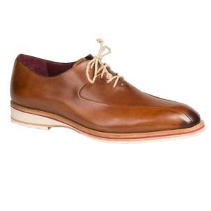 Mezlan Lehman Calfskin Bicycle Toe Shoes Cognac Image