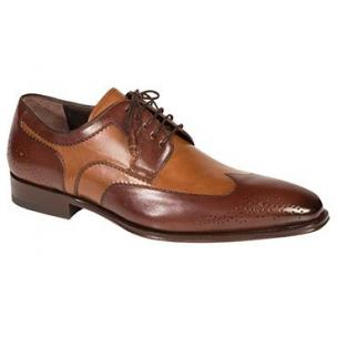 Mezlan Lincoln Wingtip Spectator Shoes Brown / Tan Image
