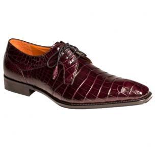 Mezlan Luciano Alligator Dress Shoes Burgundy Image