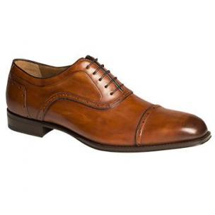 Mezlan March Cap Toe Shoes Burnished Tan Image
