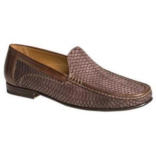 Mezlan Marius Snakeskin Loafers Mocha Image