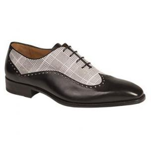 Mezlan Marti Wingtip Spectator Shoes Black / White Image