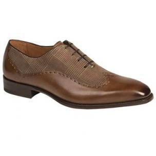 Mezlan Marti Wingtip Spectator Shoes Brown Image