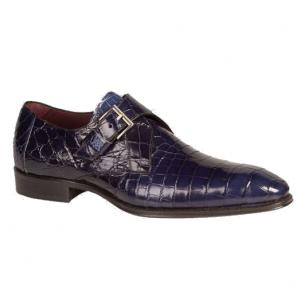 Mezlan Mauricio Alligator Monk Strap Shoes Jeans Image