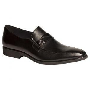 Mezlan Mauro Nappa Strap Loafers Black Image