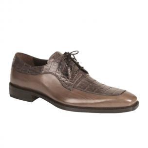 Mezlan Montreal Crocodile Calfskin Shoes Gray Image