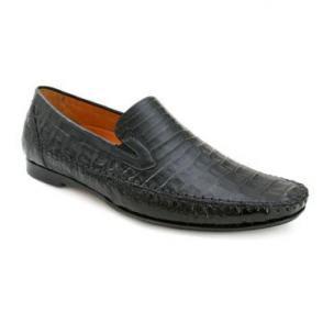 Mezlan Morellino Crocodile Loafers Black Image