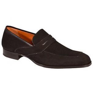 Mezlan Moura Suede Loafers Black Image