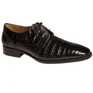 Mezlan Orazio Crocodile Derby Shoes Black Image